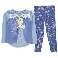 Character Long Sleeve Pyjama Set Childrens Frozen Детско облекло с герои