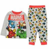 Character Long Sleeve Pyjama Set Childrens Avengers Детско облекло с герои