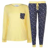 Rock And Rags Дамски Комплект Пижама Table Pyjama Set Ladies Navy Floral Дамски пижами