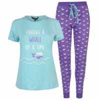 Miso Дамски Комплект Пижама Table Pyjama Set Ladies Whale Дамски пижами