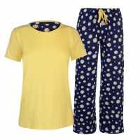 Miso Дамски Комплект Пижама Table Pyjama Set Ladies Daisies Дамски пижами
