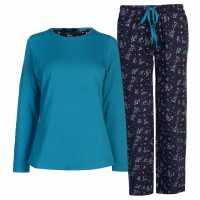 Miso Дамски Комплект Пижама Table Pyjama Set Ladies Floral Дамски пижами