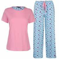 Miso Дамски Комплект Пижама Table Pyjama Set Ladies Butterflies Дамски пижами