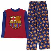 Team Woven Jersey Pyjama Set Child Boys Barcelona Детски пижами