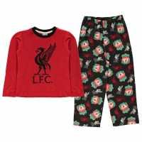 Team Woven Jersey Pyjama Set Child Boys Liverpool Детски пижами