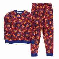 Team Snug Pyjama Set Child Boys Barcelona Детски пижами
