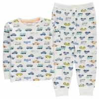 Crafted Essentials Jersey Pyjamas Child Boys White Cars Детски пижами
