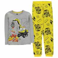 Lego Wear City Pyjamas Set Child Boys Grey Yellow Детски пижами