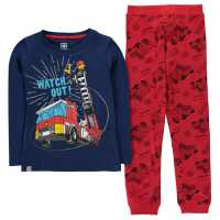 Lego Wear City Pyjamas Set Child Boys Blue Red Детски пижами