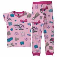 Lego Wear Iconic Pyjamas Junior Girls Lilac AOP Детски пижами