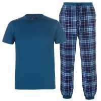 Soulcal Deluxe Pyjama Set Teal S/S Мъжки пижами