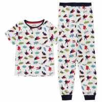 Crafted Essentials Design Pyjamas Childrens White Boys Детски пижами