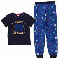 Crafted Essentials Design Pyjamas Childrens Trouble Boy Детски пижами