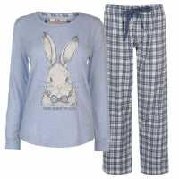 Rock And Rags And Rags Animal Pj Set Ladies Bunny Дамски пижами