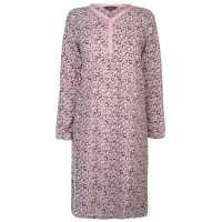 Miso Дамска Рокля Fleece Night Dress Ladies Leopard Дамски пижами