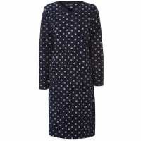 Miso Дамска Рокля Fleece Night Dress Ladies Navy Stars Дамски пижами