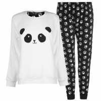 Miso Дамски Комплект Пижама Cuddle Fleece Pyjama Set Ladies Panda Дамско облекло плюс размер