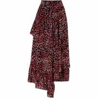 Biba Leopard Ruffle Skirt Pink Дамски поли и рокли