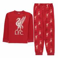 Team Woven Jersey Top Pyjama Set Child Boys Liverpool Детски пижами