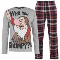 Character Мъжки Комплект Пижама Pyjama Set Mens Grumpy Мъжки пижами