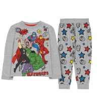 Character Long Sleeve Pyjama Set Childrens Avengers Детско облекло с герои