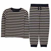 Firetrap Pyjama Set Grey Stripe Детски пижами