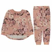 Firetrap Pyjama Set Infant Girls Blush Floral Детски пижами