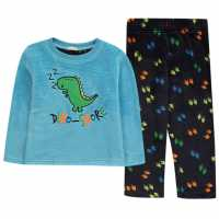 Crafted Cuddle Fleece Pyjama Set Infant Boys Dinosaur Детски пижами