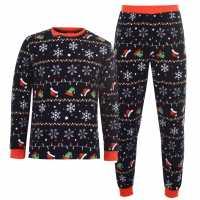 Star Christmas Fairisle Pyjamas Adults Xmas Fairisle Мъжки пижами