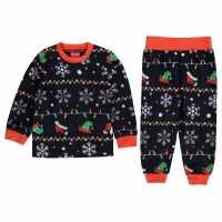 Star Christmas Family Pyjamas Infants Xmas Fairisle Бебешки дрехи