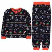 Star Christmas Family Pyjamas Junior Xmas Fairisle Детски пижами