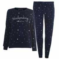 Soulcal Snug Pj Set Ladies Navy Дамски пижами