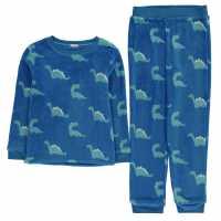 Crafted Essentials Fleece Pyjama Set Juniors Dino Snore Детски пижами