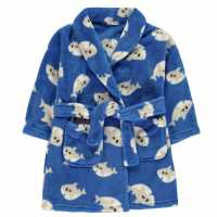 Crafted Essentials Printed Robe Childrens Shark Детски пижами
