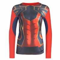 Marvel Тениска Момчета Sondico Long Sleeve Baselayer T Shirt Junior Boys Spiderman Детски основен слой дрехи