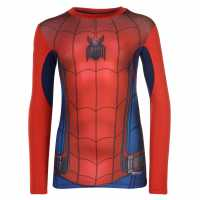 Marvel Външен Слой Деца Ls Baselayer Top Junior Boys Spiderman Детски основен слой дрехи