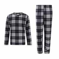 Lee Cooper Мъжки Комплект Пижама Pyjama Set Mens Charcoal/Chk Мъжки пижами