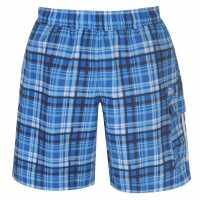 Lonsdale Мъжки Шорти 2 Stripe Checked Shorts Mens Blue Мъжки къси панталони