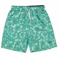 Hot Tuna Момчешки Къси Гащи Printed Shorts Junior Boys Mint/White Детски къси панталони