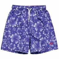 Hot Tuna Момчешки Къси Гащи Printed Shorts Junior Boys Blue Детски бански и бикини