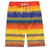 Hot Tuna Момчешки Къси Гащи Stripe Shorts Junior Boys Tanger/Blue Детски бански и бикини