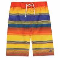 Hot Tuna Момчешки Къси Гащи Stripe Shorts Junior Boys Tanger/Blue Детски бански и бикини