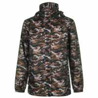 Gelert Непромокаемо Яке Packaway Mens Waterproof Jacket Green Camo Мъжки грейки