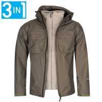 Karrimor Мъжко Яке 3В1 Tycoon 3 In 1 Jacket Mens Olive/Heather Мъжки якета и палта