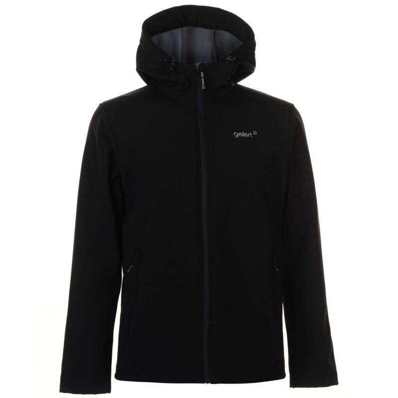 2ce03939b26 Gelert Мъжко Яке С Качулка Softshell Hooded Jacket Mens Black Мъжки якета и  палта