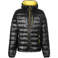 Iflow Мъжко Яке Peak Mountain Jacket Mens Black/Yellow Мъжки грейки