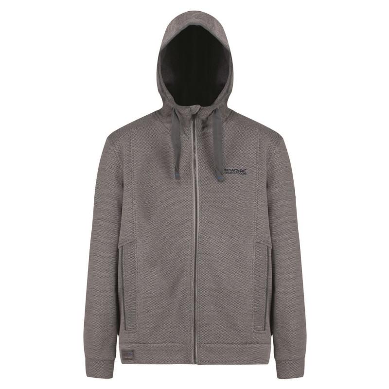 08430011468 Regatta Мъжко Яке Полар Langdon Fleece Jacket Mens Rock Grey Мъжки горнища  с цип