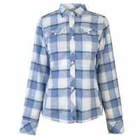 Columbia Риза С Дълъг Ръкав Henry Long Sleeve Shirt Ladies Blue Dusk Дамски ризи и тениски