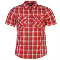 Jack Wolfskin Мъжка Риза Faro Shirt Mens indian red chec Мъжки ризи