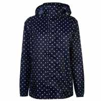 Gelert Непромокаемо Яке Packaway Womens Waterproof Jacket Navy Polka Dot Дамски якета и палта